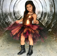 custom tutu, red tutu, orange tutu, black tutu, punk tutu, unique tutu, rainbow tutu