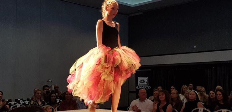 Hot Pink & Lemon Lace  high low tutu