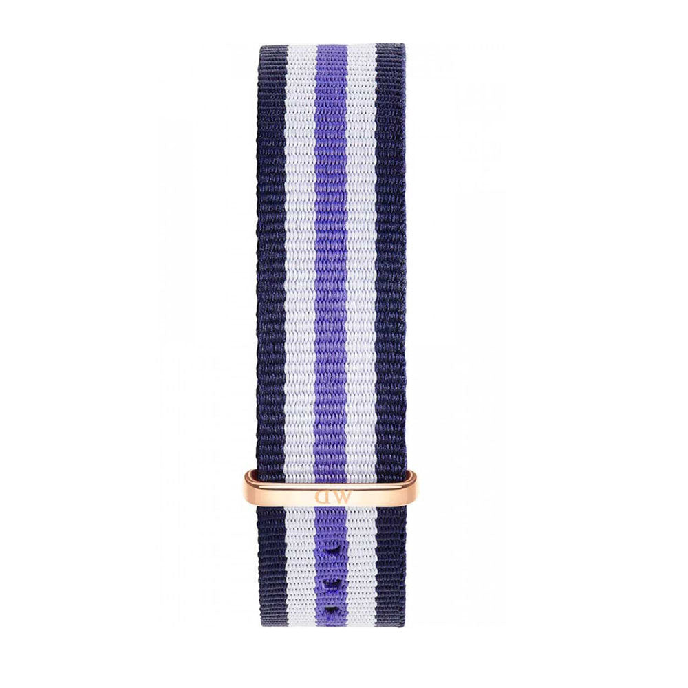 DANIEL WELLINGTON ACCESSORY STRAP NYLON BLUE PURPLE & WHITE