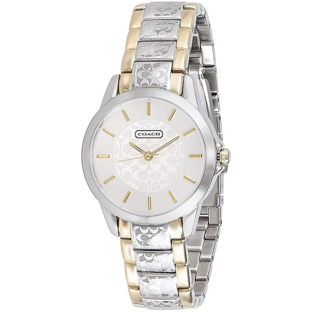 COACH CLASSIC SIGNATURE STRAP 14501610 SILVER WOMEN'S WATCH