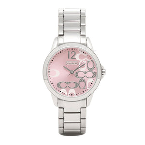 COACH CLASSIC SIGNATURE ANALOG QUARTZ SILVER STAINLESS STEEL 14501617 WOMEN'S WATCH