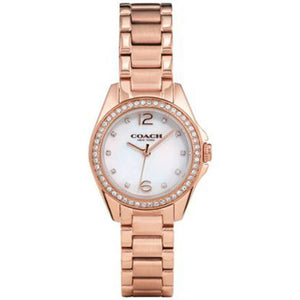 COACH TRISTEN MINI ANALOG QUARTZ ROSE GOLD STAINLESS STEEL 14502104 WOMEN'S WATCH