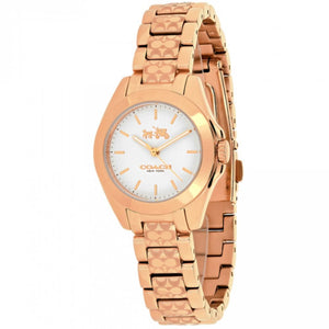 COACH TRISTEN SIGNATURE ANALOG QUARTZ ETCHED ROSE GOLD STAINLESS STEEL 14502185 WOMEN'S WATCH