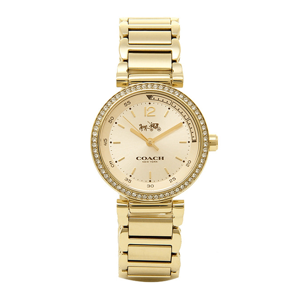 COACH 1941 SPORT GOLD PLATED BRACELET 14502195 WOMEN'S WATCH