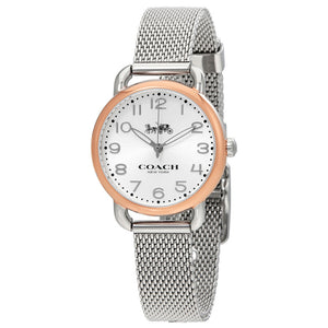 COACH DELANCEY ANALOG QUARTZ TWO TONE STAINLESS STEEL 14502246 WOMEN'S WATCH