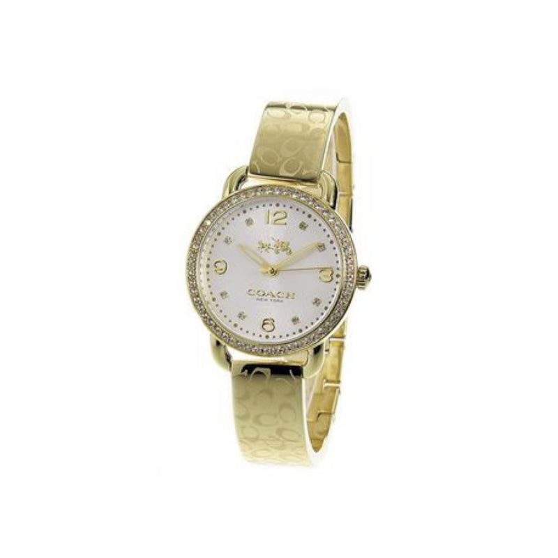 COACH DELANCEY ANALOG QUARTZ GOLD STAINLESS STEEL 14502354 WOMEN'S WATCH