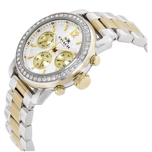 COACH LEGACY SPORT CHRONOGRAPH TWO TONE STAINLESS STEEL 14502372 WOMEN'S WATCH