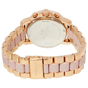 COACH LEGACY CHRONOGRAPH ROSE GOLD STAINLESS STEEL 14502535 WOMEN'S WATCH
