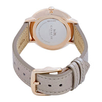 COACH SLIM EASTON ROSE GOLD STAINLESS STEEL 14502684 CHAMPAGNE LEATHER STRAP WOMEN'S WATCH