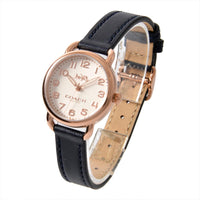COACH DELANCY ANALOG QUARTZ ROSE GOLD STAINLESS STEEL 14502749 BLUE LEATHER STRAP WOMEN'S WATCH