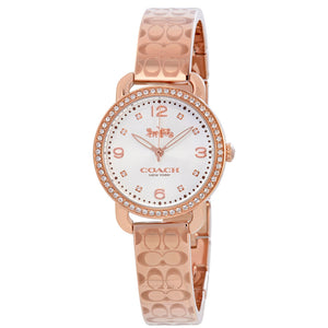 COACH DELANCY ANALOG QUARTZ ROSE GOLD STAINLESS STEEL 14502767 WOMEN'S WATCH