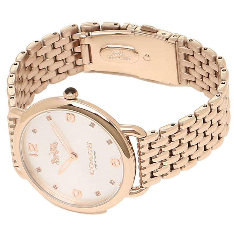 COACH DELANCEY ANALOG QUARTZ ROSE GOLD STAINLESS STEEL 14502787 WOMEN'S WATCH