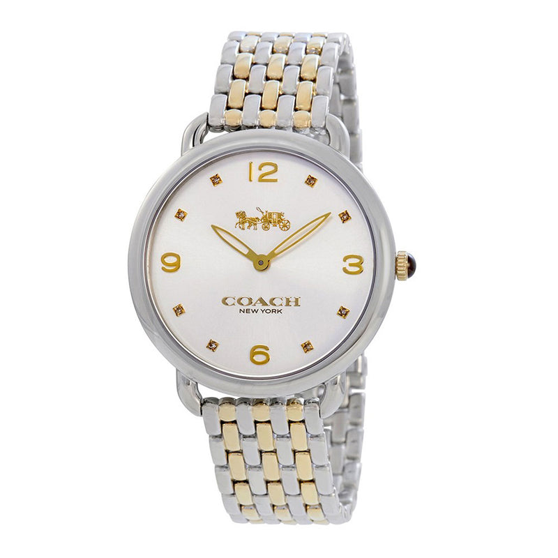 COACH DELANCEY ANALOG QUARTZ TWO TONE STAINLESS STEEL 14502788 WOMEN'S WATCH