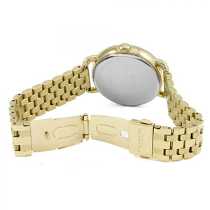 COACH DELANCEY ANALOG QUARTZ GOLD STAINLESS STEEL 14502813 WOMEN'S WATCH