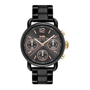 COACH DELANCY SPORT CHRONOGRAPH BLACK STAINLESS STEEL 14502840 WOMEN'S WATCH