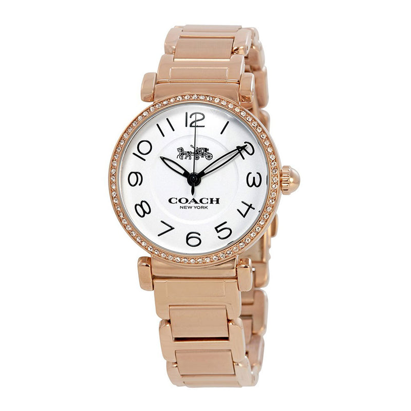 COACH MADISON ANALOG QUARTZ ROSE GOLD STAINLESS STEEL 14502856 WOMEN'S WATCH