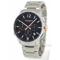 COACH BLEECKER CHRONOGRAPH SILVER STAINLESS STEEL 14602009 MEN'S WATCH