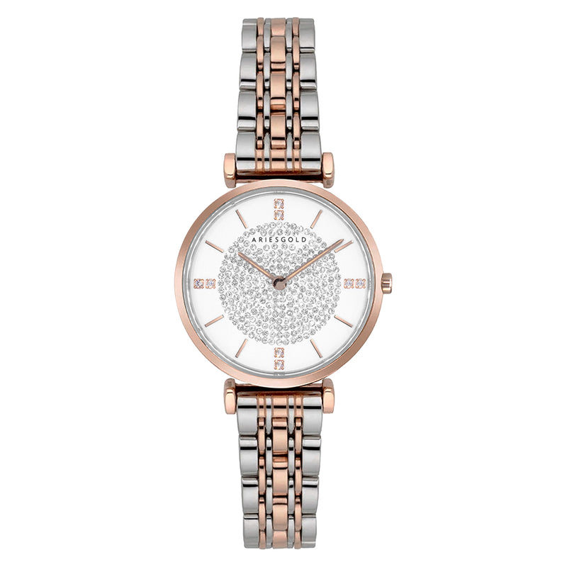 ARIES GOLD VIGOUREUX L 5039Z 2TR-W WOMEN'S WATCH