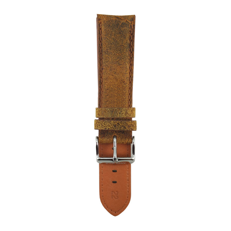 ARIES GOLD ORANGE RED DISTRESSED AG-L0007 LEATHER STRAP