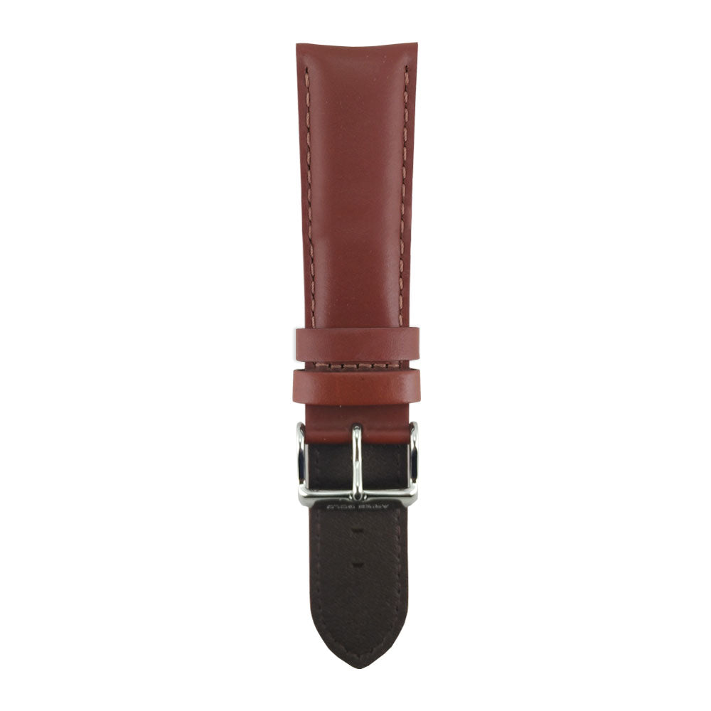 ARIES GOLD SIENNA BROWN AG-L0009 LEATHER STRAP