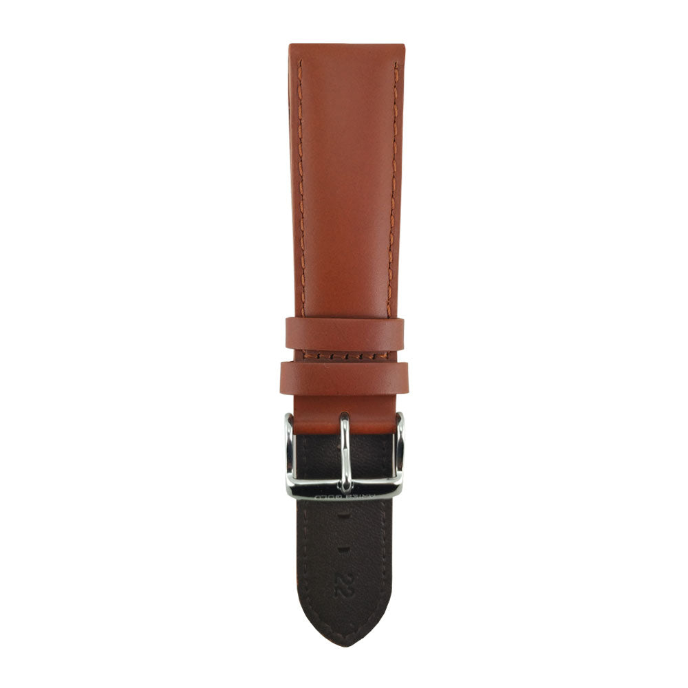ARIES GOLD AMBER BROWN AG-L0012 LEATHER STRAP