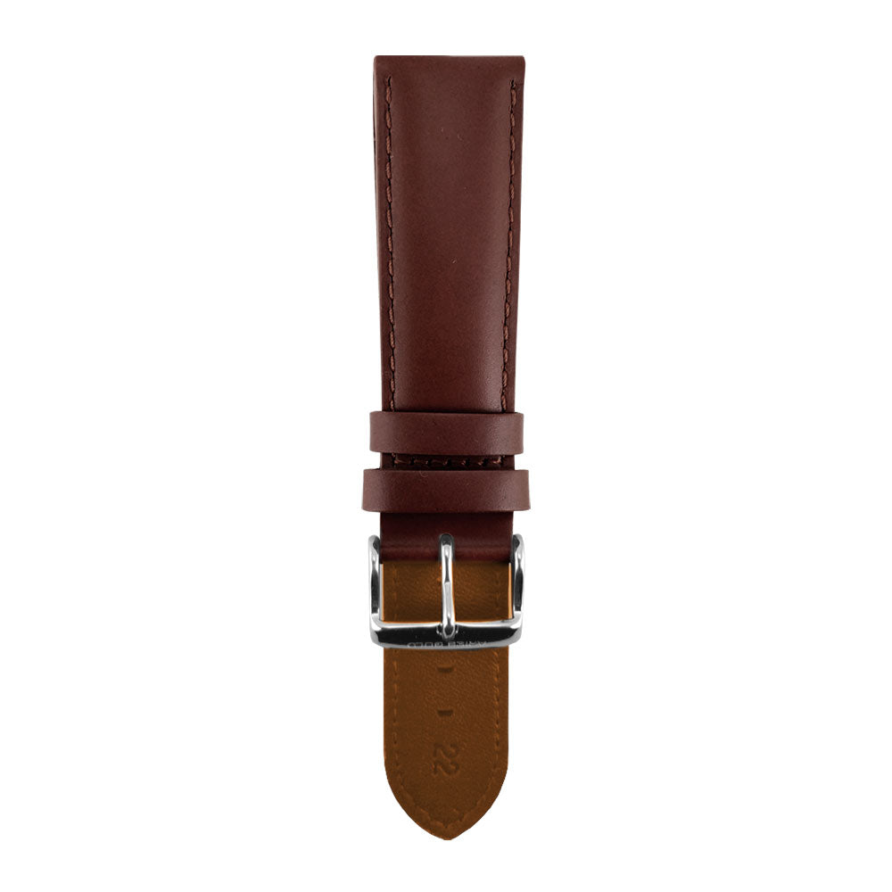 ARIES GOLD PECAN BROWN AG-L0020 LEATHER STRAP