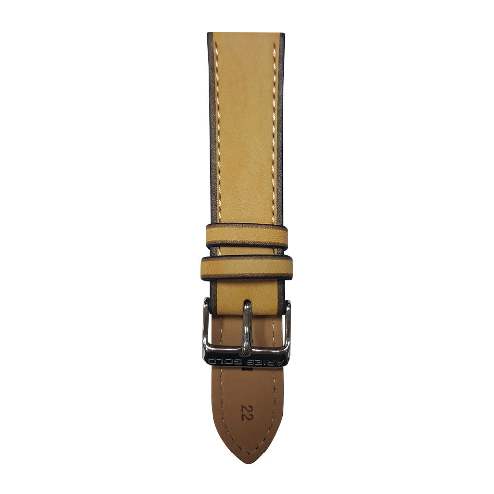 ARIES GOLD WEST WARWICK AG-L0021 LEATHER STRAP