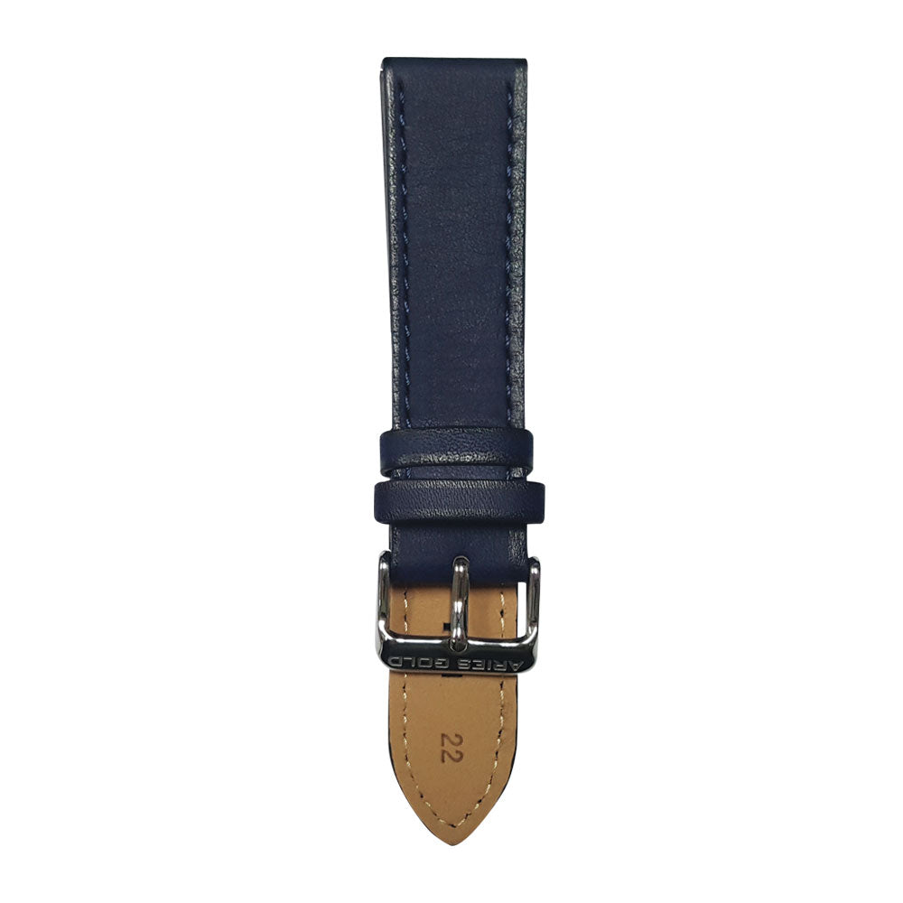 ARIES GOLD AEGEAN BLUE AG-L0022 LEATHER STRAP