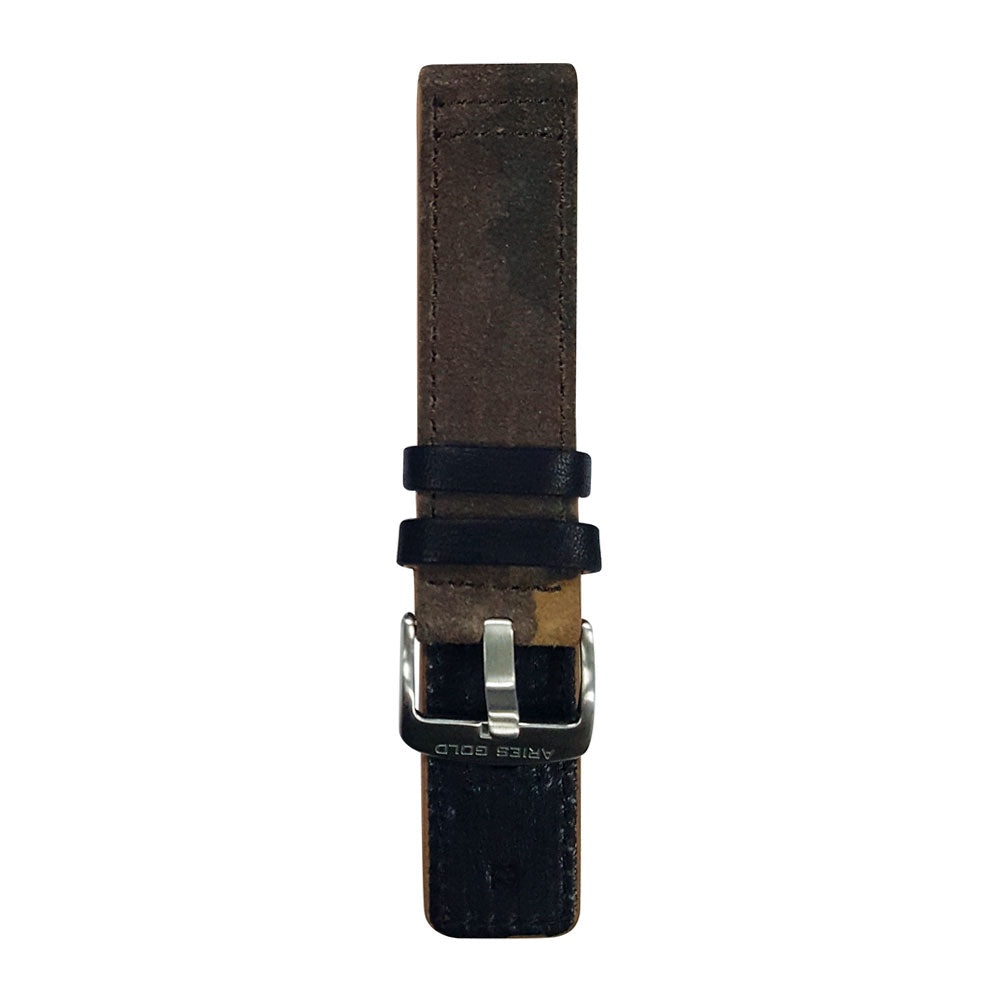 ARIES GOLD CAMO BROWN AG-L0031 LEATHER STRAP