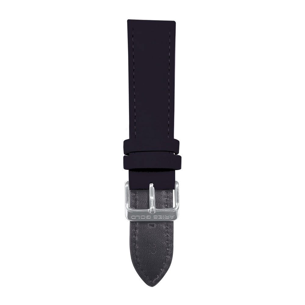 ARIES GOLD BLACK CRAZY HORSE AG-L0032 LEATHER STRAP