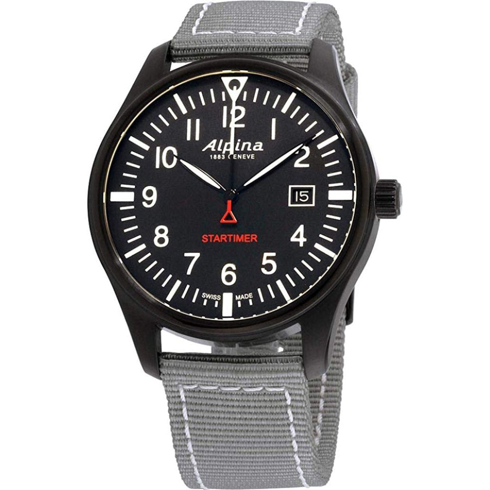 ALPINA STARTIMER PILOT AL-240B4FBS6 QUARTZ GMT MEN'S WATCH