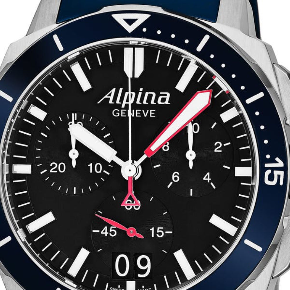 ALPINA SEASTRONG DIVER 300 BIG DATE CHRONOGRAPH AL-372LBN4V6 MEN'S WATCH