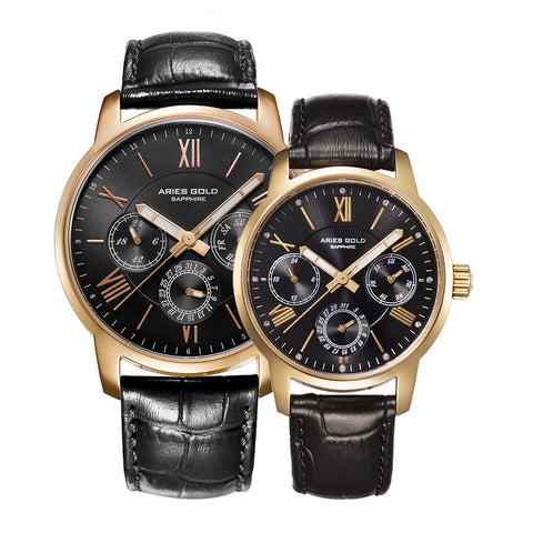 6e8b555a6 ARIES GOLD URBAN ETERNAL G 103   B 103 G-BK COUPLE S WATCHES