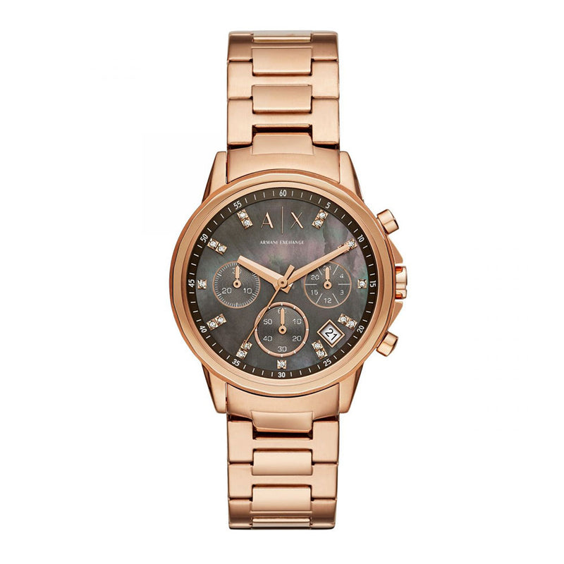 ARMANI EXCHANGE CHRONOGRAPH ROSE GOLD STAINLESS STEEL AX4354 WOMEN'S WATCH
