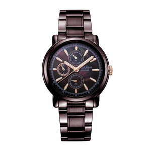 ARIES GOLD CHRONOGRAPH INSPIRE CONTENDER COFFEE STAINLESS STEEL B 7302 CF-BKRG WOMEN'S WATCH