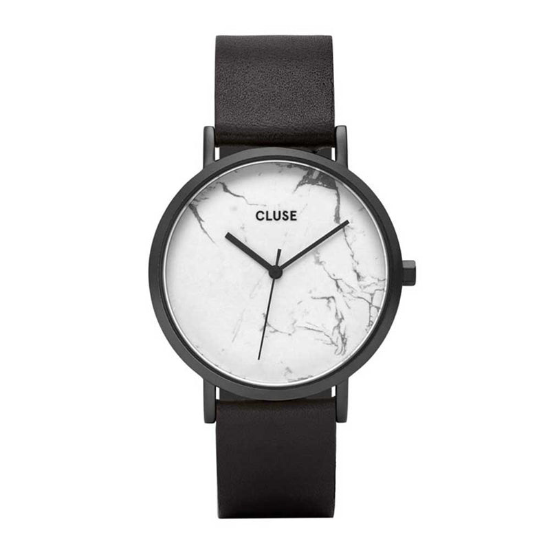 CLUSE LA ROCHE QUARTZ BLACK STAINLESS STEEL CL40002 LEATHER STRAP LADIES WATCH