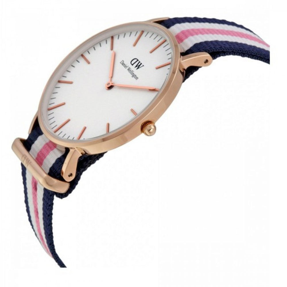 fd7670320431 DANIEL WELLINGTON CLASSIC SOUTHAMPTON ROSE GOLD STAINLESS STEEL DW00100034  STRIPED NATO STRAP WOMEN S WATCH