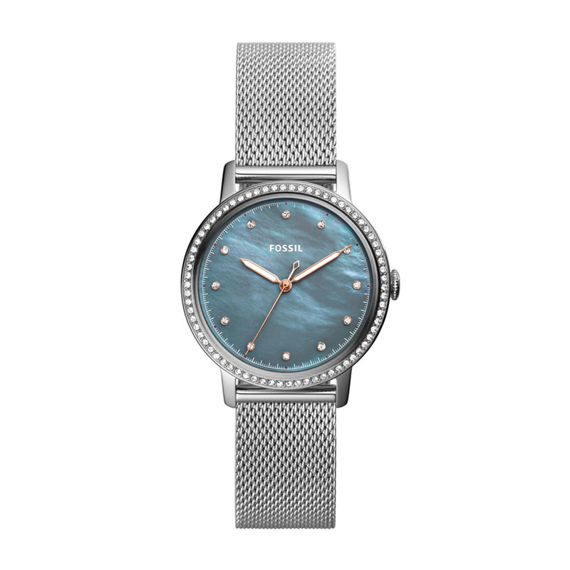 FOSSIL NEELY ANALOG QUARTZ SILVER STAINLESS STEEL ES4313 WOMEN'S WATCH