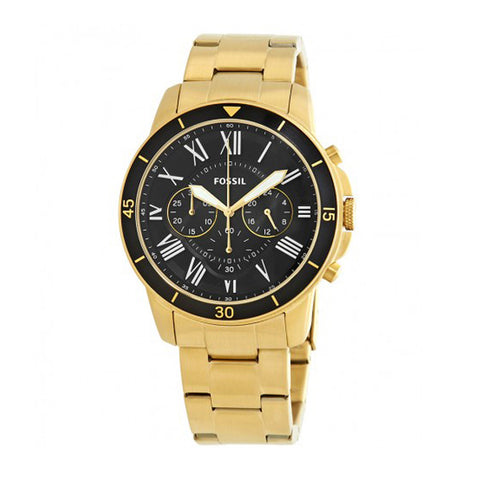 02b94b24ce62 FOSSIL GRANT CHRONOGRAPH GOLD STAINLESS STEEL FS5267 MEN S WATCH