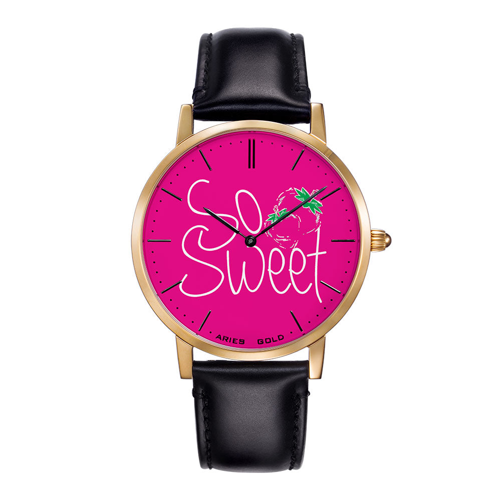 ARIES GOLD CUSTOMISED WATCH - SO SWEET PINK WOMEN'S WATCH