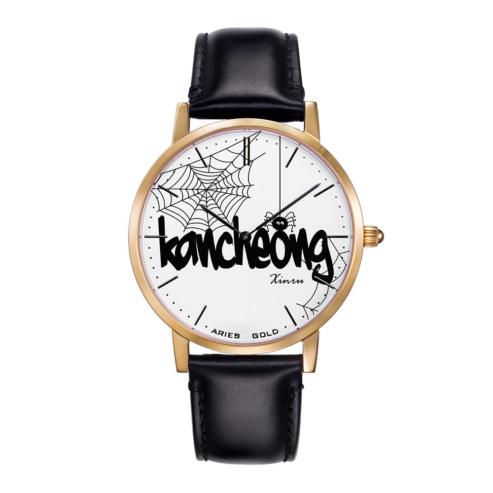 ARIES GOLD CUSTOMISED WATCH - KANCHIONG SPIDER WHITE UNISEX WATCH