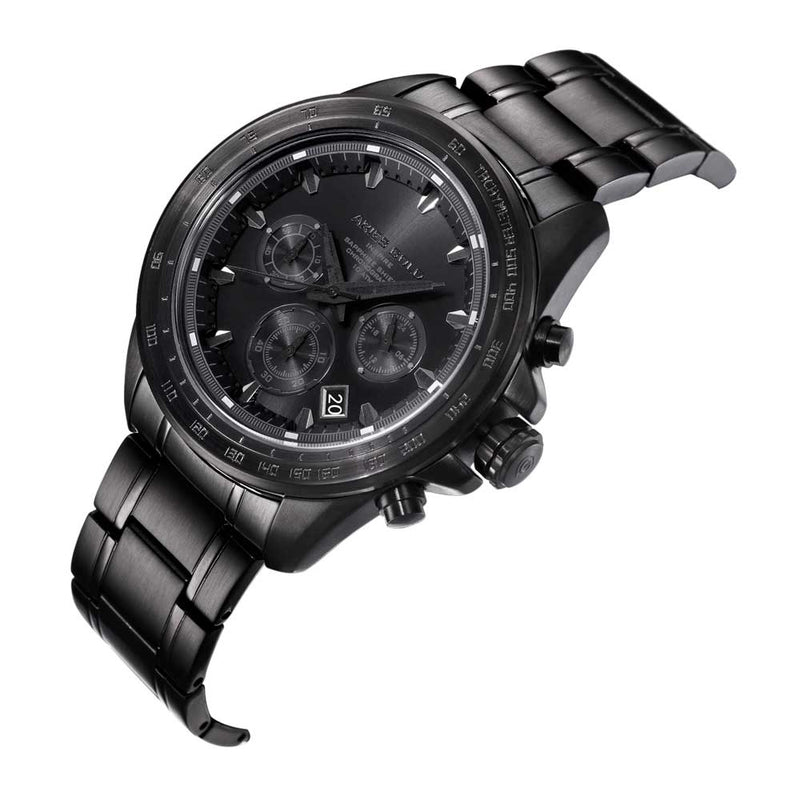 ARIES GOLD DRIFTER CHRONOGRAPH BLACK STAINLESS STEEL BLACK-OUT G 7001 BK-OUT MEN'S WATCH