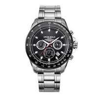 ARIES GOLD DRIFTER CHRONOGRAPH SILVER STAINLESS STEEL G 7001 SBK-BK MEN'S WATCH