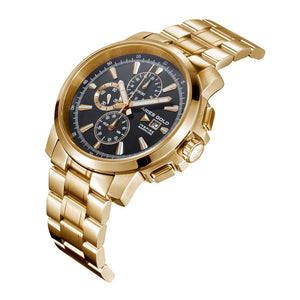 ARIES GOLD INSPIRE CONTENDER GOLD STAINLESS STEEL G 7301 G-BK MEN'S WATCH