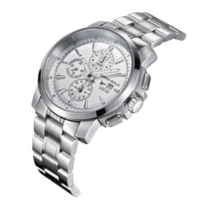 ARIES GOLD INSPIRE CONTENDER SILVER STAINLESS STEEL G 7301 S-SILVER MEN'S WATCH