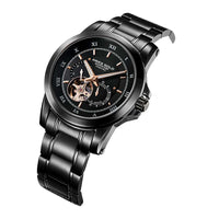 ARIES GOLD AUTOMATIC INFINUM FORZA BLACK STAINLESS STEEL G 9001 BK-BK MEN'S WATCH
