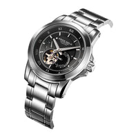 ARIES GOLD AUTOMATIC INFINUM FORZA SILVER STAINLESS STEEL G 9001 S-BK MEN'S WATCH