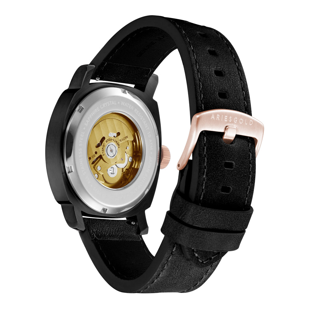 ARIES GOLD VANGUARD G 9025 BKRG-GNRG MEN'S WATCH