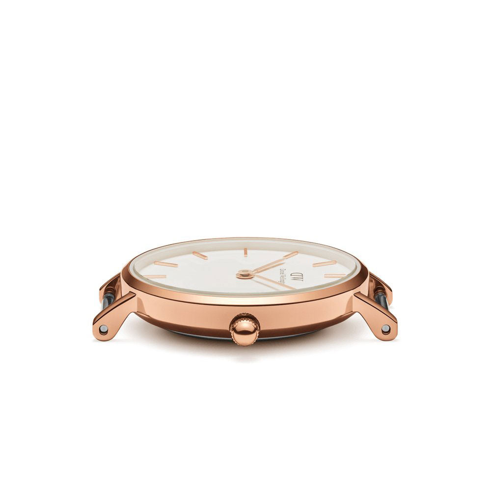 b5e6bfdab5fd DANIEL WELLINGTON CLASSIC PETITE 28 DURHAM ROSE GOLD STAINLESS STEEL  DW00100228 WOMEN S WATCH
