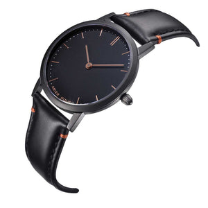 ARIES GOLD URBAN TANGO BLACK STAINLESS STEEL L 1008 BK-BK LEATHER STRAP WOMEN'S WATCH